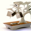A Bonsai tree sculpture uses solar energy to charge devices