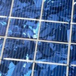 solar panel in close up
