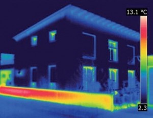 solid wall insulation thermal image